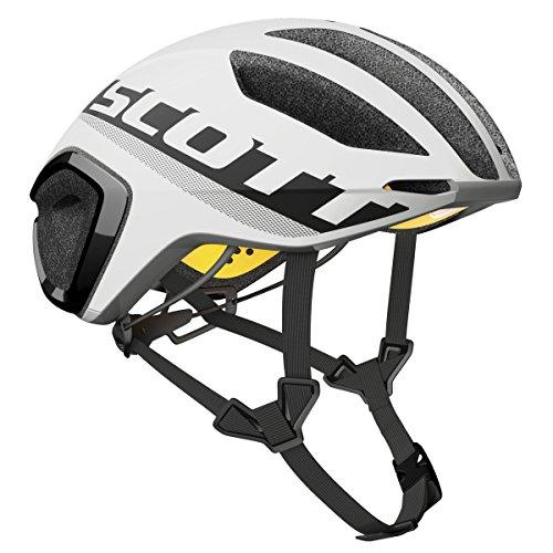 Scott Cadence Plus Triathlon per bici da corsa casco bianco/nero 2017, Uomo, bianco, M (55-59cm)