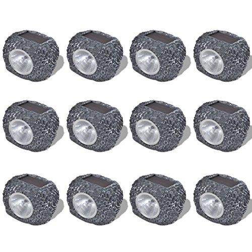 Solar-outdoor-lampen Spot (vidaXL 12x LED Solarlampe Solarleuchte Gartenlampe Strahler Dekoleuchte Steine)