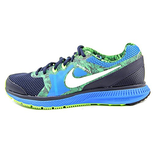 Nike Zoom Winflo Print Femmes Synthétique Chaussure de Course Obsidian-White-Pht Bl-Flsh Lm