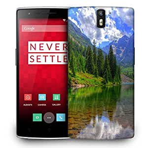 Snoogg River And Christams Tree Designer Protective Phone Back Case Cover For OnePlus One