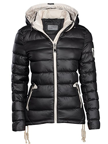S'West – Chaqueta de invierno para mujer, de diseño, corta, acolchada, aspecto...