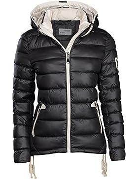 S'West – Chaqueta de invierno para mujer, de diseño, corta, acolchada, aspecto de plumón, con capucha, anorak...