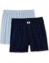 Symbol Amazon Brand Men's Printed Boxers (Pack of 2)