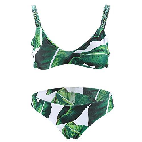 Frauen Schwimmen Tragen Dreieck Bikini Intime Gepolsterte BH Set Unterwäsche Beachwear Badeanzug(S) (Intime Unterwäsche Bikini)