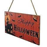 SOMESUN Woody Door Sign Porte Hanging Happy Halloween La Porte Décorations Pendre Halloween Décorations de maison fête le magasin boutique...
