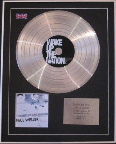 PAUL WELLER-Ltd Edtn CD PlatinumDisc-WAKE UP THE NATION