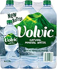 Volvic Natural Mineral Water 1.5L, Promo Pack of 6