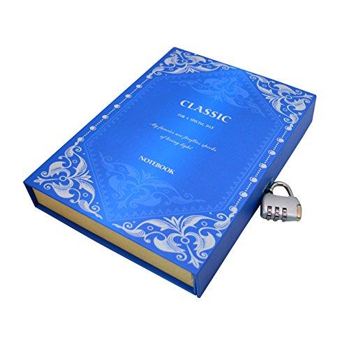 La Haute Travel Diary Schutzhülle Harten Fall Schreiben Notebooks Skizzieren Tagebuch Bücher Persönlichen Planer mit Code-Lock blau (Planer Mit Fall)