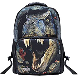 Tinksky 3D mochila Escuela unisexo mochila recorrido 3D de la impresión Animal bolso niños mochila mochila Mochilas y bolsas escolares