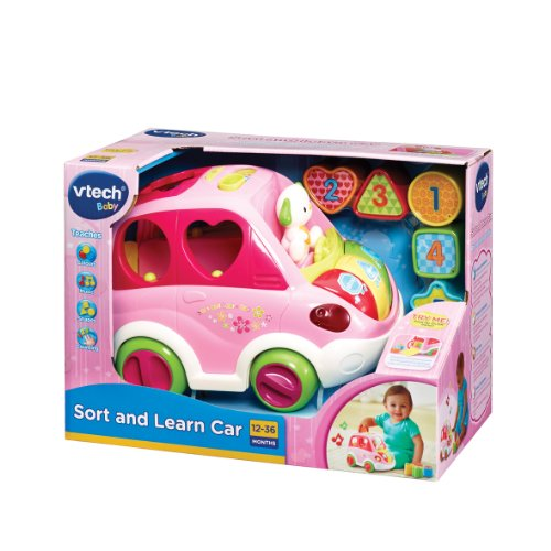 Image of VTech Baby Sort and Learn Car - Pink