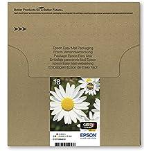 Epson T1806 Cartouche d'Encre d'Origine Claria Home Multipack Noir, Cyan, Magenta, Jaune [Emballage « Déballer sans s'énerver par Amazon »]