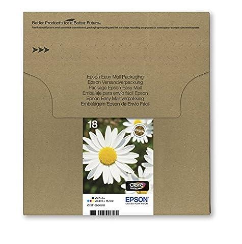 Encre d'origine EPSON Multipack Pâquerette T1806 : cartouches Noir, Cyan, Magenta et Jaune [Emballage « Déballer sans s'énerver par Amazon »]