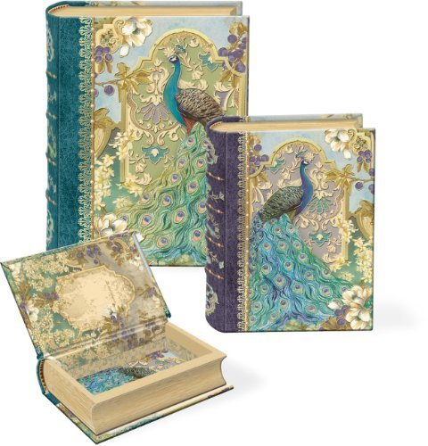 Nesting Box-set (Punch Studio Peacock in the Garden Small Nesting Book Boxes -- Set of 3 by Punch Studios)