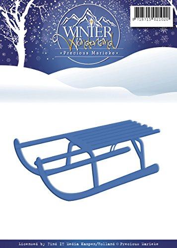 Precious Marieke Winter Wonderland Die Schlitten, Blau -