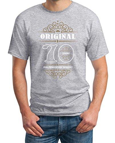 Geburtstag 70 Jahre - Original Zur Perfektion Gereift Geschenk T-Shirt Grau