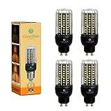4×GreenSun LED GU10 Fassung 6W Mais Birne Beleuchtung SMD2835 80LEDs Leuchtmittel Corn Light Dimmable(100%-50%-25%) Warmweiß Energiesparlampe für Wandlampen, Tischlampen, Deckenlampen 220V-240V