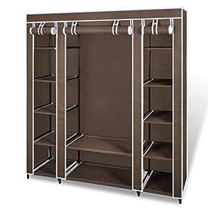 Regal Schrank mit Ankleidebereich aus Gewebe für Kleidung, 150 x 45 x 180 cm, 35.90 €Lieferumfang enthalten) **N ° 1, BEIGE