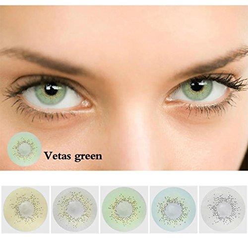 Foto de Ncient 1 Año Lentillas Colores Lentes de Suave Multicolo para Gran Diámetro Hermosos Ojos 0 grados Cosplay Maquillaje,Pieza única