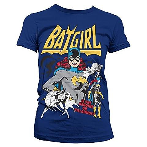 Offiziell Lizenzprodukt Batgirl - Hero Or Villain Damen Tee (Marineblau), XX-Large (Villain-kostüme Für Frauen)