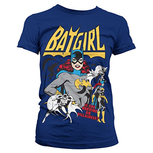 Offiziell Lizenzprodukt Batgirl - Hero Or Villain Damen Tee (Marineblau), (Damen Kostüme Villain)