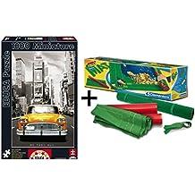 Pack Puzzle Educa 14836. Taxi nº 1 Nueva York. 1000 piezas (miniatura) + Tapete universal Puzzle Roll Clementoni 30297