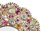 Espejo-redondo-de-pared-de-cristal-con-inserciones-Multicolores-tnico-chic