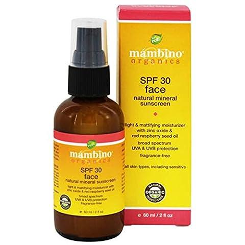Mambino Organics Sunscreen - Face - Natural Mineral - Spf 30 - 2 Fl Oz