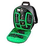 sac à dos imperméable à l'eau de sac à dos de Maolanku, sac à dos d'appareil-photo étanche sac à dos DSLR pour Canon Nikon pour Sony vert