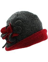 Amazonit Cloche Cappello Grigio Donna Abbigliamento