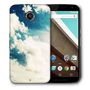 Snoogg Sunshine Clouds Designer Protective Back Case Cover For Motorola Nexus 6
