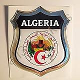 All3DStickers Autocollant Algérie Blason Emblème Adhésif Algérie Armoiries 3D Drapeau Résine Voiture Moto