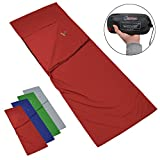 Mikrofaser Hüttenschlafsack Reiseschlafsack POCKET PAUL Innenschlafsack von Alpidex Rechteckform Schlafsack