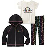 Juicy Couture Girls' 3 Pieces Jacket Set