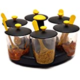Aachar Stand Revolving Spice Rack/Herb Jars And Containers/Multipurpose Stand/Masala Rack/Dining Pickle Container Stand (Color May Vary)