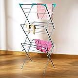Marko Homewares Clothes Airer 3 Tier Laundry Dryer Concertina Indoor Outdoor Patio Towel Horse