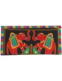 Streetkart Indian Ethnic Elephant Kutchi Work Hand Clutch