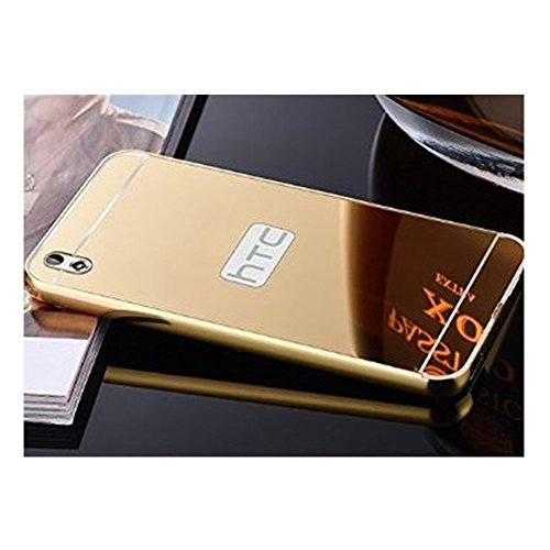 SDO™ Mirror Back Cover Case with Acrylic Bumper Frame for HTC Desire 816 (Gold)