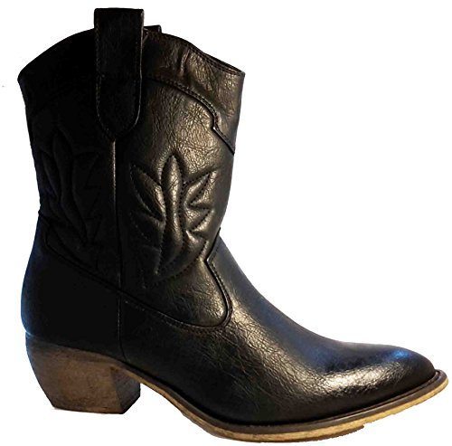 Bottes, chaussures femme, modèle 11094104011601, noir, bleu ou gris, différents modèles et tailles. Noir.