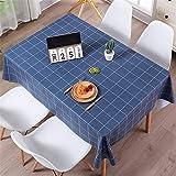 NQING PVC Rectangle Checkered Table Cover Table De Cuisine Linge De Table Pastorale...