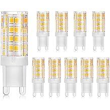 Lámparas LED G9, Blanco, Paquete de 10, 5W, 220V-240V,