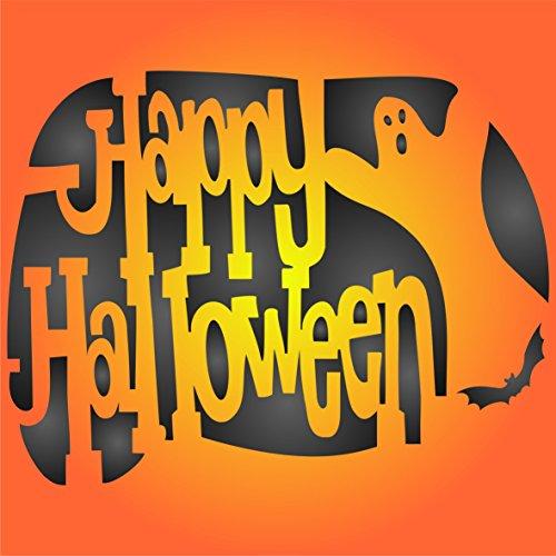 Halloween Schablone–wiederverwendbar Creepy Urlaub Spooky Happy Halloween-Schild Wand Schablone–Vorlage, auf Papier Projekte Scrapbook Tagebuch Wände Böden Stoff Möbel Glas Holz etc, ()