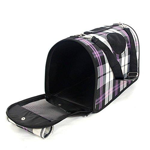 UltiFit (TM) US / / Francia / Germania Bag / AU Inghilterra Spedizione Pet Carrier viaggio Dog Cat Bag prodotto pieghevole piccolo al grande cane del modello Plaid