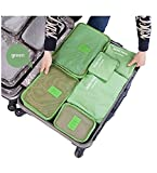 RiWEXA 6pcs/1set Travel Storage Bag Storage Clothes Bag Luggage Case Bag Suitcase Underwear Organizer Make Up Organizer Bag/ Travel Clothes Organizer Bag 6 in 1 Cosmetics Make-up Laundry Pouch, Multi Color