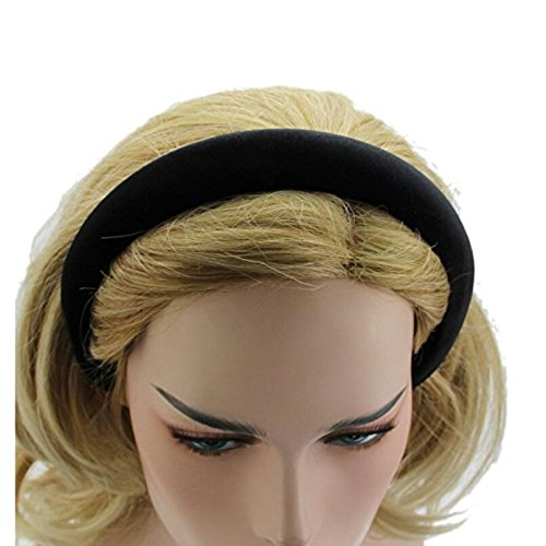 TOUYOUIOPNG 2,5 cm Padded Velvet Alice Band Haarbänder Band Stirnband Volltonfarbe Haar-Accessoire