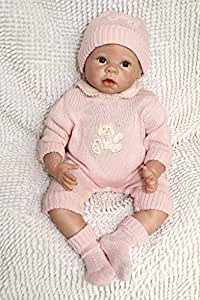 NPKDOLL Réincarné Bébé Poupée Souple En Silicone 22 Pouces 55Cm Magnétique Bouche Belle Lifelike Mignon Garçon Jouet Fille Rose Bébé Reborn Baby Doll A1FR