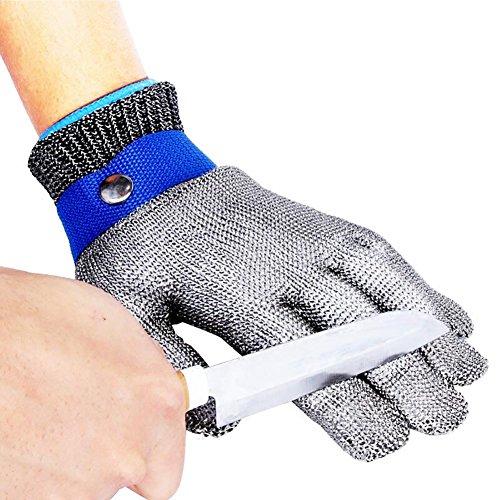 JZDCSCDNS Draht Handschuhe Schnittfest Anti-Kratz Anti-Zerreißen Handschutz Küche Metall Auto Schneidejob Elastische Manschetten...