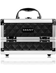 Shany Cosmetics - Boîte de maquillage facilement transportable - Miroir intégré - Noir