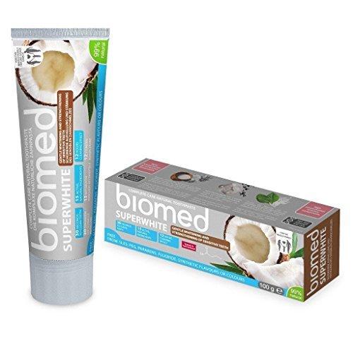 99 Natürliche (biomed Superwhite fluoridfreie Kokosöl Zahnpasta mit 99% natürlichen Inhaltsstoffen)