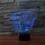 RAINBOW MEETING Telecomando colorato Luce Fisarmonica Luce 3D LED Telecomando colorato Luce acrilica a luce visiva 3D, base USB con pulsante a sfioramento