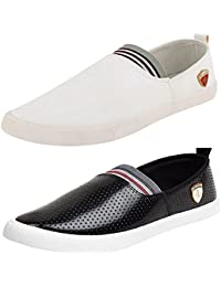 Maddy Men's Mesh Combo Pack Of 2 Loafer and Moccassin
